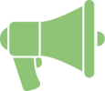 megaphone icon illustrating the service : promoting your profile