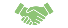 handshake icon illustrating the service : trailing spouse support